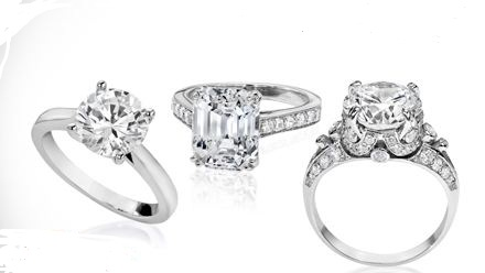 Selecting A Setting 14K Yellow Gold Or White Cubic Zirconia