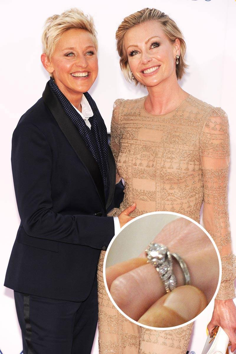 ellen degeneres portia de rossi wedding rings celebrity