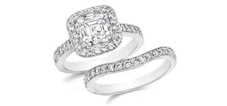 designers pick the ultimate cz wedding ring set - Cz Wedding Ring Sets