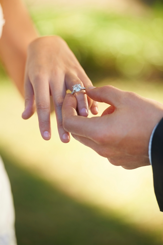 how and why to wear your engagement ring and wedding band - How To Wear Your Wedding Ring