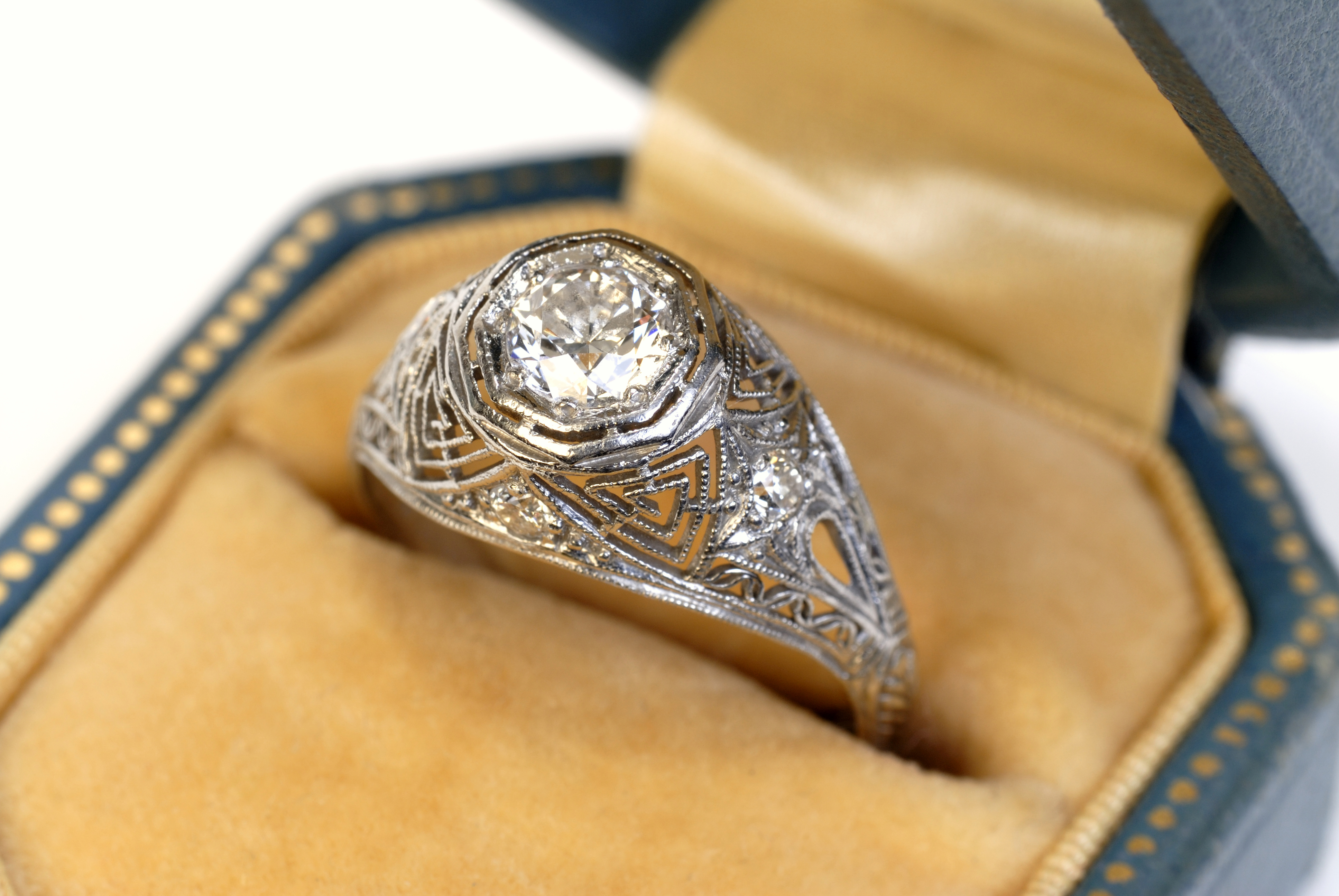 Resetting An Heirloom Ring Cubic Zirconia Engagement Ring