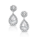 Round and Pear 8.88 Carat  14K Drop Earrings