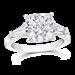 Cushion Cut 3.50 Ct. 14K Ring