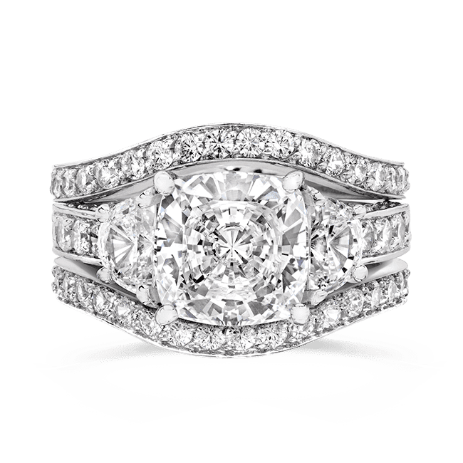 Cushion Cut 3 5 Carat 14k Wedding Ring Set