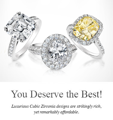 Luxury cubic zirconia rings from Birkat Elyon