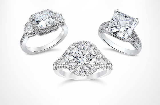 designer inspiration - Cubic Zirconia Wedding Rings